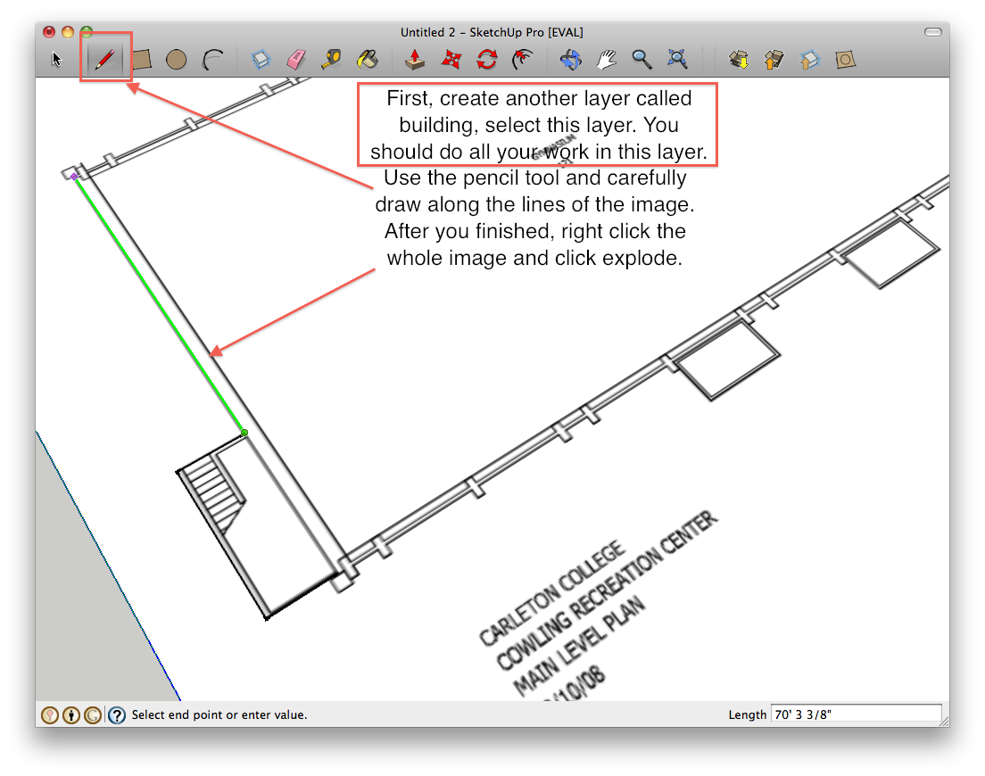 How to build a building starting from a floor plan in google sketchup its carlpedia carleton college wiki