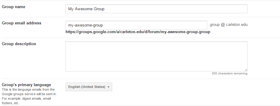 Creating Your Own Carleton Google Group - ITS - Carlpedia
