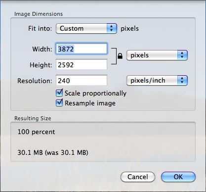 Changing Image Size using Preview (on a Mac) - ITS