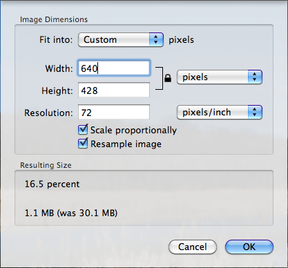how to change a pdf file size on mac