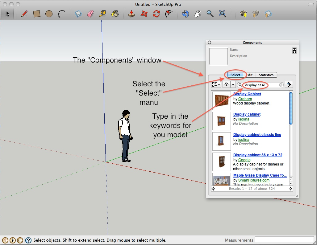 05-How to use models from Sketchup 3D warehouse - ITS - Carlpedia ...